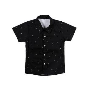 Camisa Manga Curta Infantil para Menino - Preto 2
