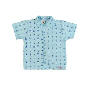 Camisa Manga Curta Infantil para Menino - Verde 1
