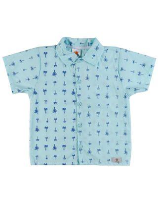 Camisa Manga Curta Infantil para Menino - Verde