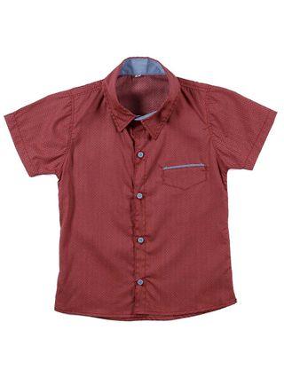 Camisa Manga Curta Infantil para Menino - Vermelho