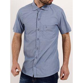 Camisa Manga Curta Masculina Azul 3