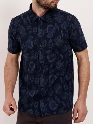 Camisa Manga Curta Masculina - Azul Marinho