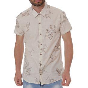 Camisa Manga Curta Masculina Bege G