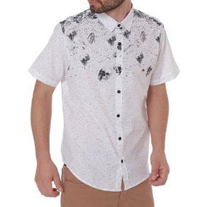 Camisa Manga Curta Masculina Branco G