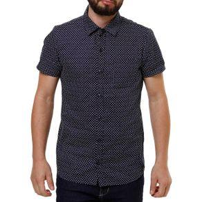 Camisa Manga Curta Masculina Fido Dido Azul Marinho G