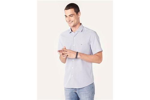 Camisa Manga Curta Menswear Knot - Azul - GG