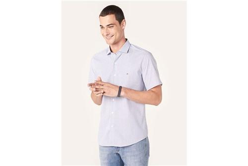 Camisa Manga Curta Menswear Knot - Azul - P