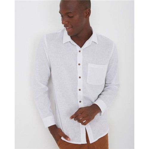 Camisa Manga Longa Branco P