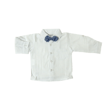 Camisa Manga Longa com Gravata - Baby Gijo | Dó Ré Mi Bebê