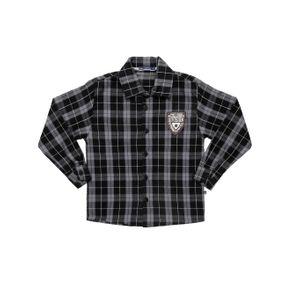 Camisa Manga Longa Infantil para Menino - Cinza 6