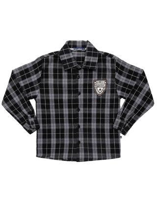 Camisa Manga Longa Infantil para Menino - Cinza