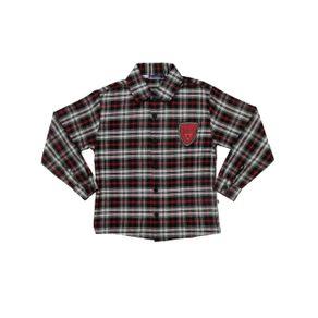 Camisa Manga Longa Infantil para Menino - Vermelho/preto 8