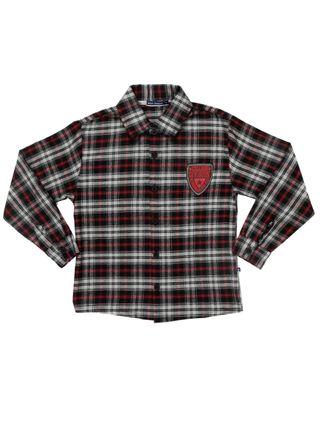 Camisa Manga Longa Infantil para Menino - Vermelho/preto