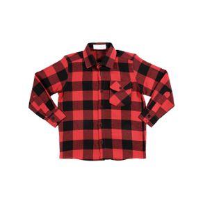 Camisa Manga Longa Juvenil para Menino - Vermelho/preto 10