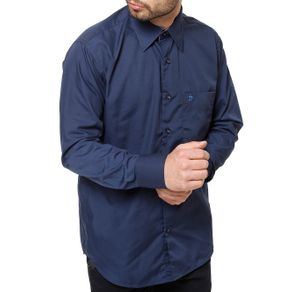 Camisa Manga Longa Masculina Azul 2