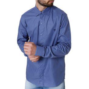 Camisa Manga Longa Masculina Azul 1