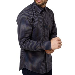 Camisa Manga Longa Masculina Azul GG