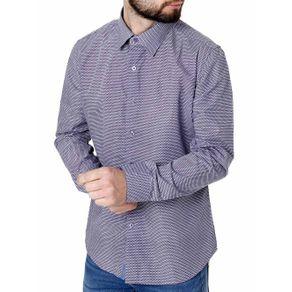 Camisa Manga Longa Masculina Azul P
