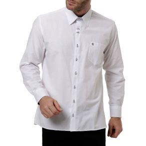 Camisa Manga Longa Masculina Branco 3