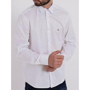 Camisa Manga Longa Masculina Branco GG