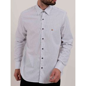 Camisa Manga Longa Masculina Branco G