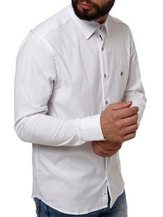 Camisa Manga Longa Masculina Branco