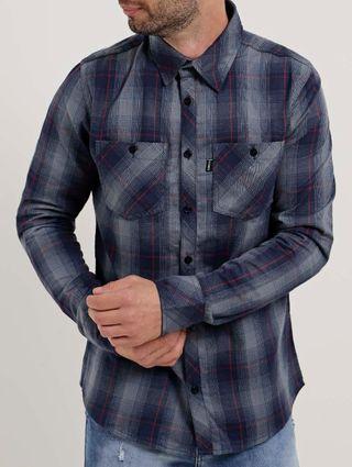 Camisa Manga Longa Masculina Nicoboco Azul