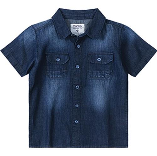 Camisa Marisol Jeans Azul Menino