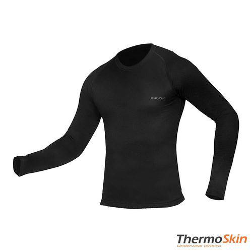 Camisa Masculino Segunda Pele Thermoskin Tamanho M Manga Longa Preto - Curtlo