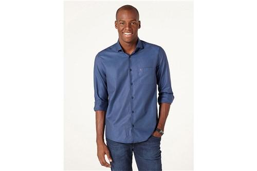 Camisa Menswear Chambray - Marinho - XGG