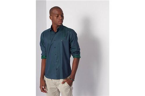 Camisa Menswear Changeant - Verde - GG