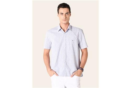 Camisa Menswear Floral Ale - Azul - P