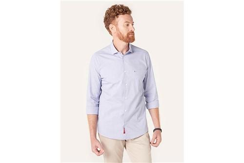 Camisa Menswear Ft Dots - Azul - P