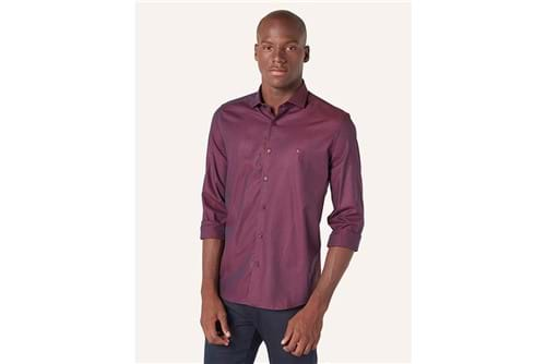 Camisa Menswear Lisa - Vinho - P