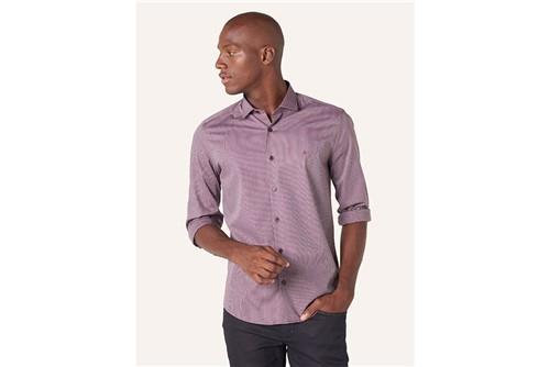 Camisa Menswear Listras - Vinho - P