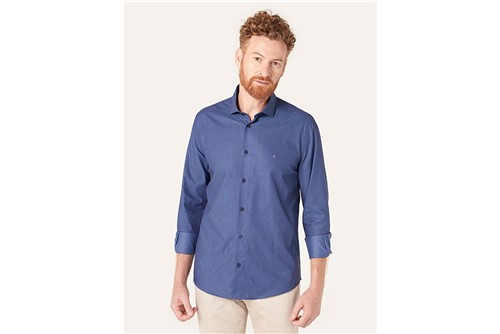 Camisa Menswear Maquinetada Deep Blue - Azul - P