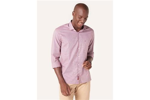 Camisa Menswear Micro Xadrez - Vermelho - P