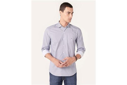 Camisa Menswear Padrão Geo - Azul - P