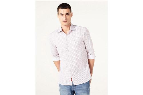 Camisa Menswear Quadriculados Fio 60 - Branco - M