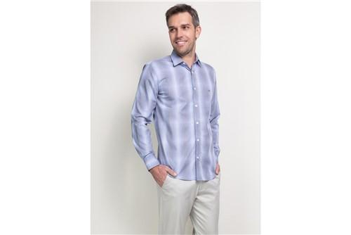 Camisa Menswear Slim - Azul - P