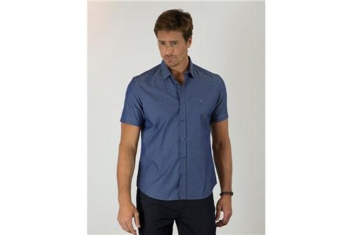 Camisa Menswear Slim Barra Vivo - Azul - M