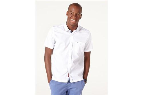 Camisa Menswear Slim Cadarço Vista - Branco - GG