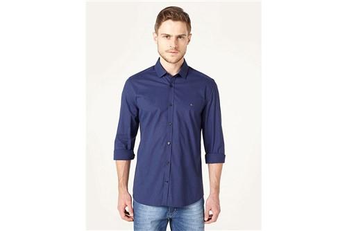 Camisa Menswear Slim Fit Xadrez - Marinho - GG