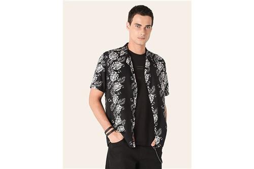 Camisa Menswear Slim Resort Adão - Preto - P