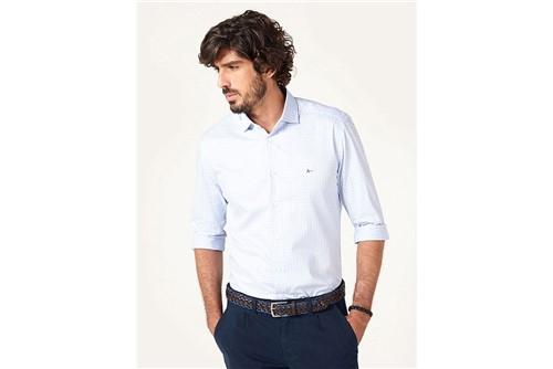 Camisa Menswear Slim Trento Xadrez - Azul - GG