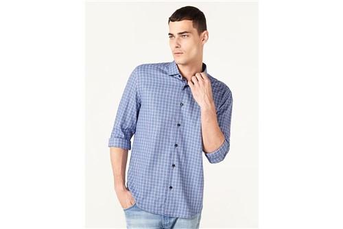Camisa Menswear Slim Trento Xadrez - Azul - P