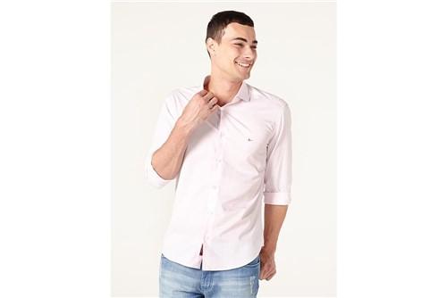 Camisa Menswear Slim Trento Xadrez - Rosa - P