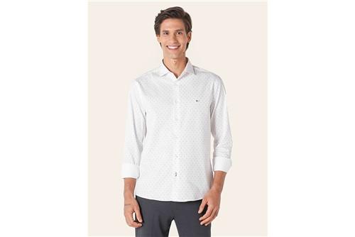 Camisa Menswear Slim Two Tones - Branco - P