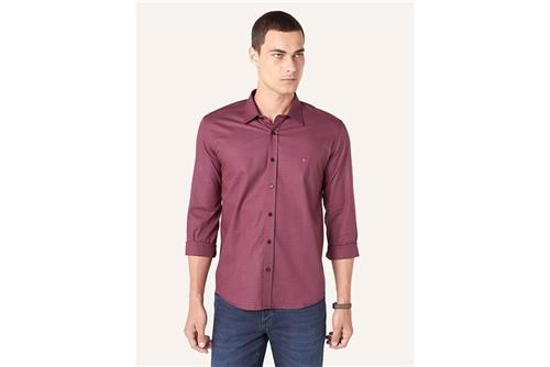 Camisa Menswear Slim Xadrez - Vinho - M