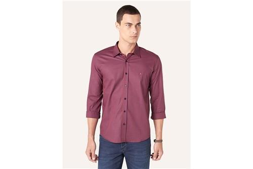 Camisa Menswear Slim Xadrez - Vinho - P